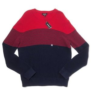 NWT Express Sweater Navy And Red